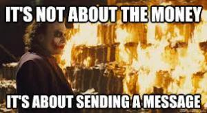 joker send a message