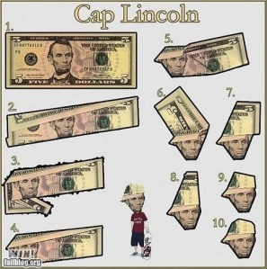 paper folding lincoln